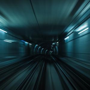 Disruption - speeding through a tunnel