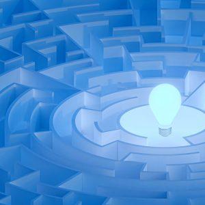 lightbulb in maze